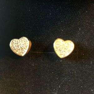 Gold heart charms